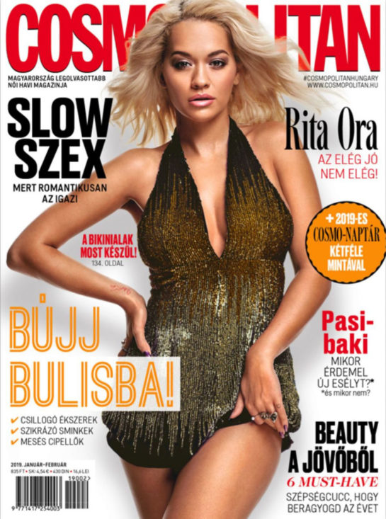 Rita Ora on the Cover of Cosmopolitan (Hungary January/February 2019)