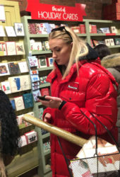 Sophie Turner Christmas Shopping in New York