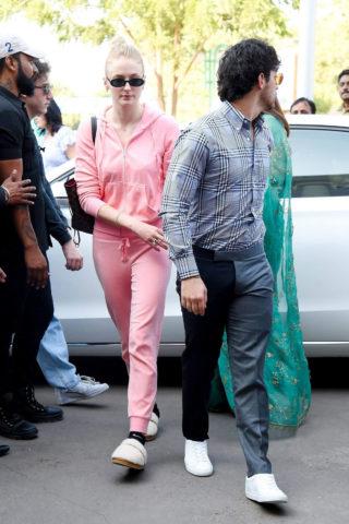 Sophie Turner and Joe Jonas at Jodhpur Airport in India