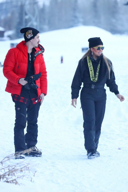 Street Style - Mariah Carey Out on Snow in Aspen