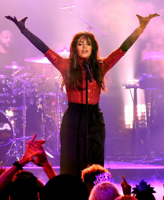 Camila Cabello Performs at Dick Clark's New Year's Rockin' Eve 2019 in New York