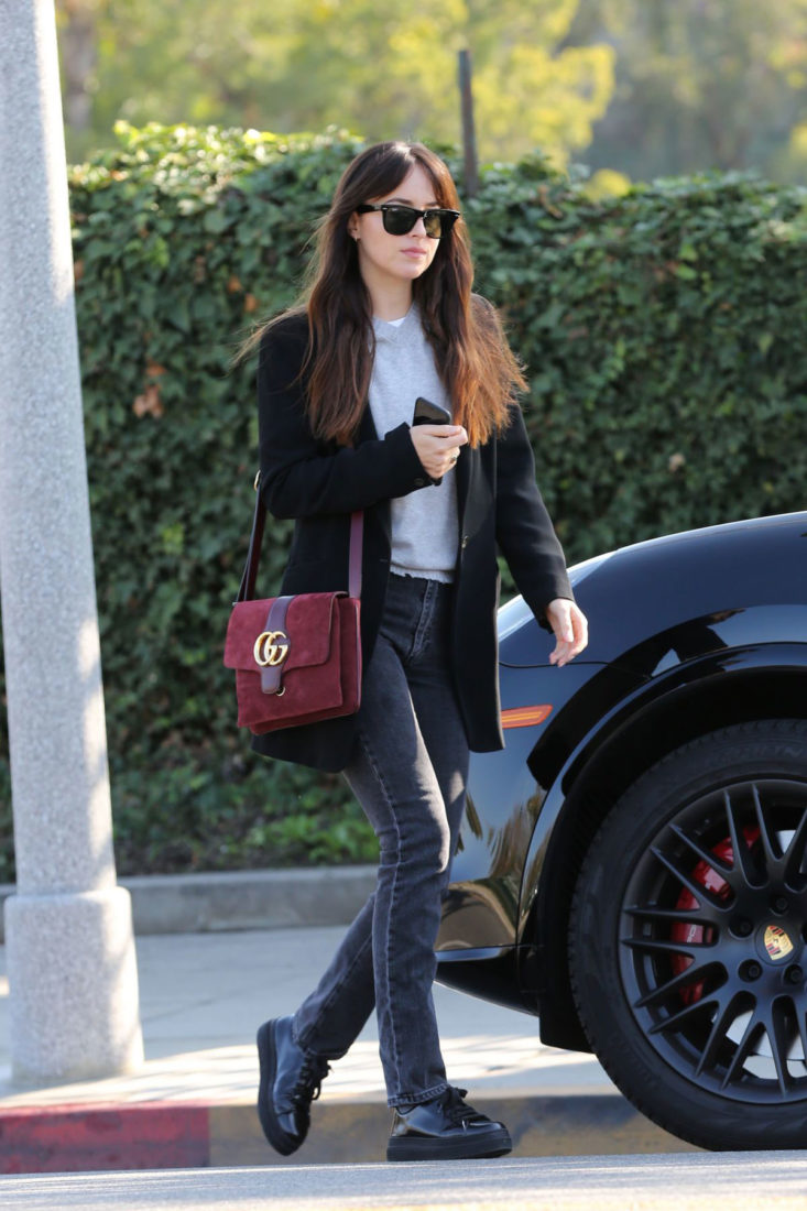 Dakota Johnson leaving a Skin Care Clinic in Beverly Hills