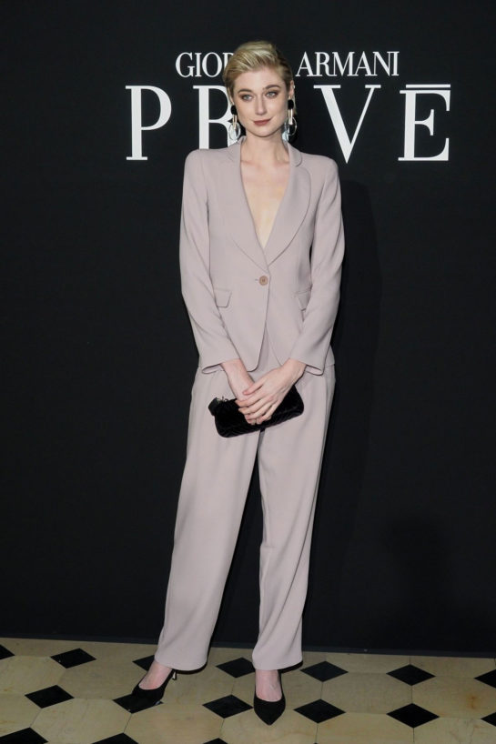 Elizabeth Debicki at the Armani Privé show as part of Paris Fashion Week