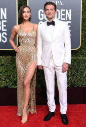 Irina Shayk and Bradley Cooper at 2019 Golden Globe Awards