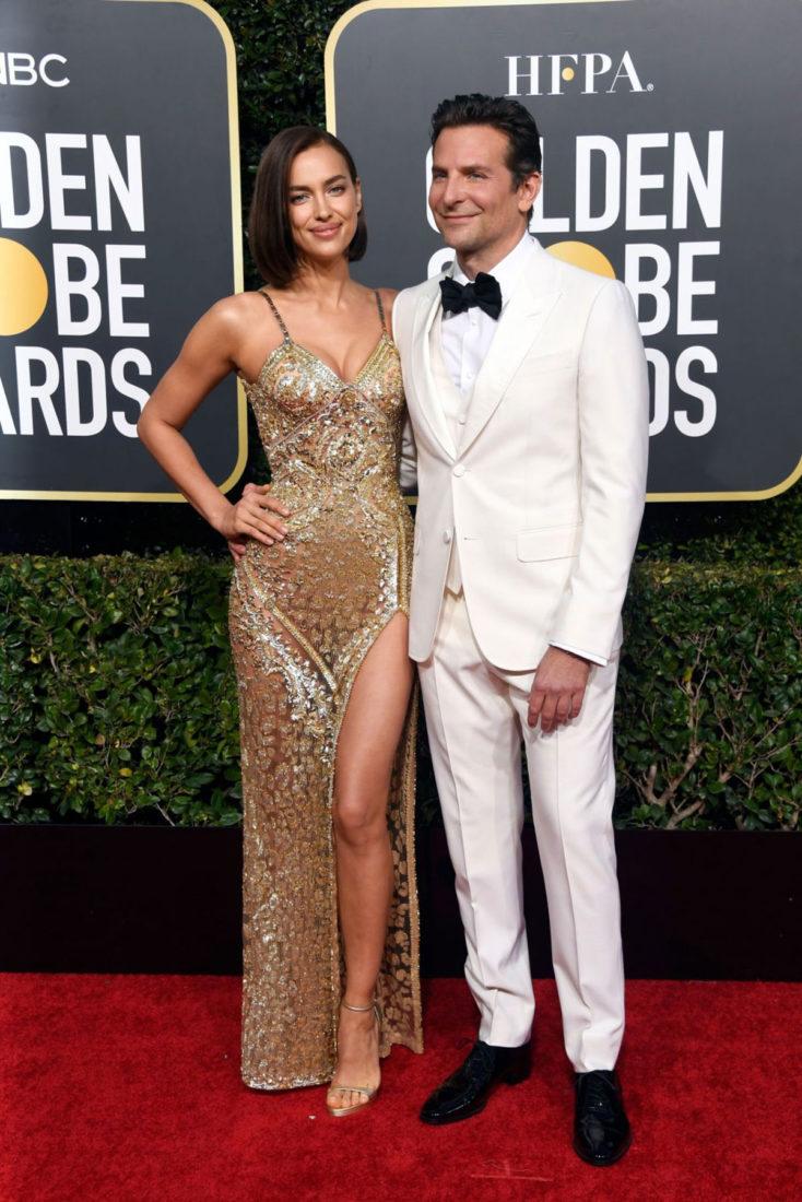 Irina Shayk and Bradley Cooper at 2019 Golden Globe Awards