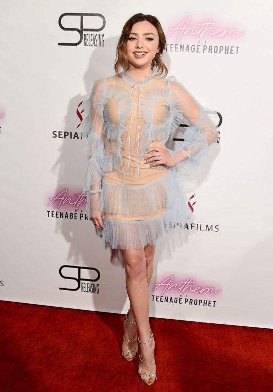 Peyton List at Anthem of a Teenage Prophet Premiere in Hollywood