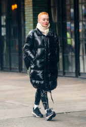 Rose McGowan Arrives at Bowery Hotel in New York