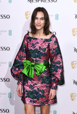 Alexa Chung at BAFTA Nespresso Nominees Party in London