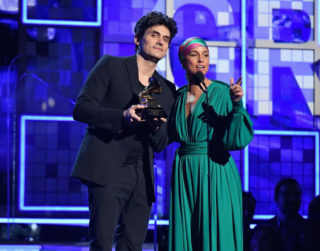 Alicia Keys and John Mayer at 2019 Grammy Awards in Los Angeles
