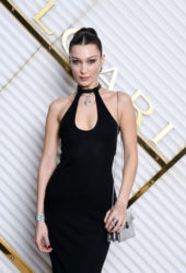 Bella Hadid at Bulgari Dinner Party at Milan Fashion Week
