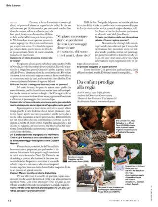 Brie Larson in iO Donna del Corriere della Sera (February 2019)