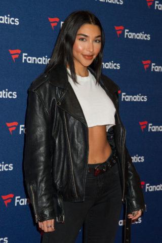 Chantel Jeffries at Fanatics Super Bowl party in Atlanta