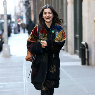Daleela Echahly Out at New York Fashion Week