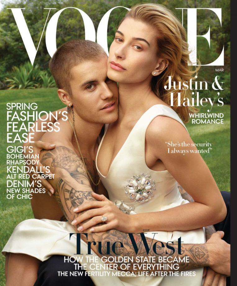 Hailey and Justin Bieber in Vogue Magazine (US March 2019)