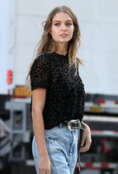Josephine Skriver Maybelline Commercial Set in New York