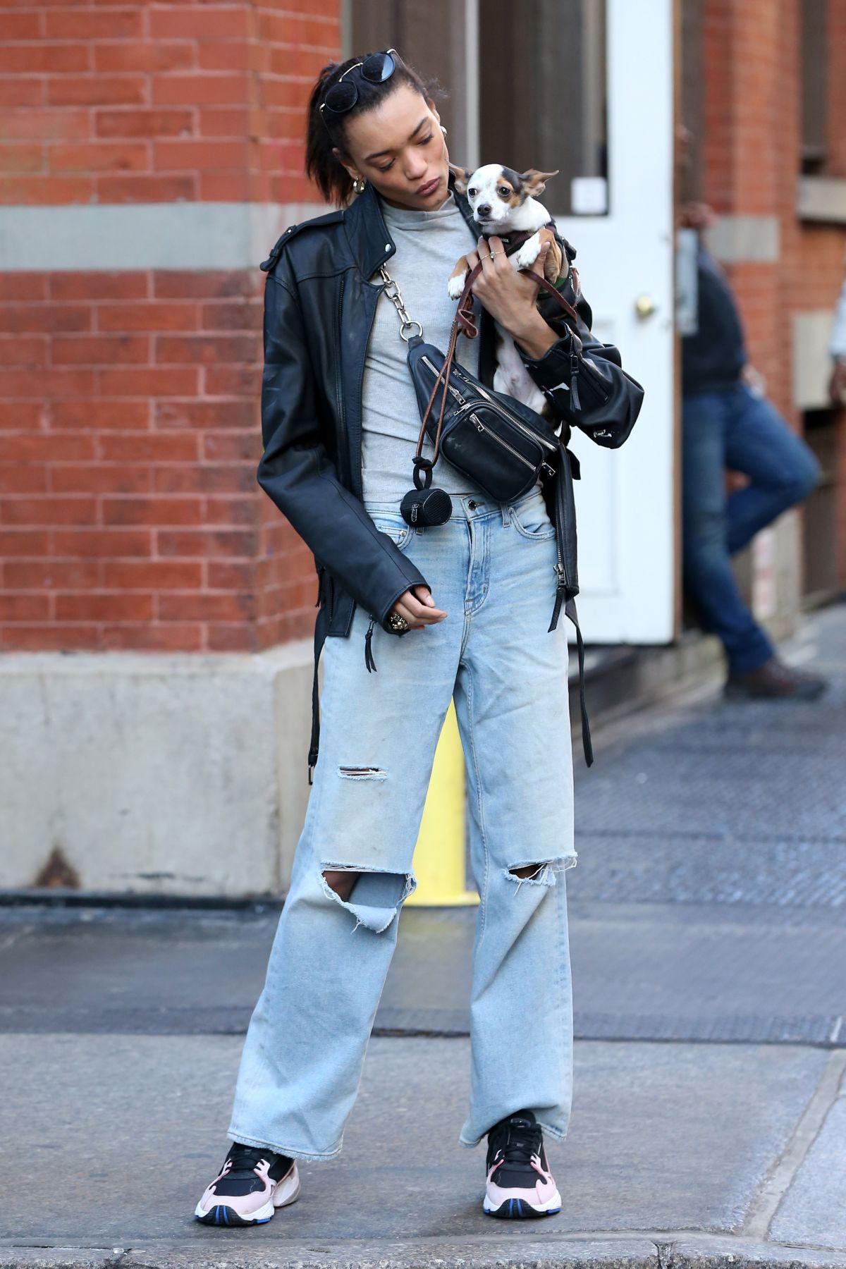 Daleela Echahly Street Fashion: Lameka Fox Out At New York Fashion