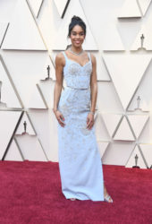 Laura Harrier at Oscars 2019 in Los Angeles