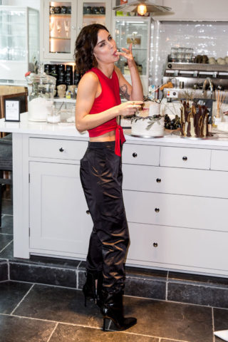 Lena Meyer Landrut at L'Oreal Cafe at Berlin International Film Festival
