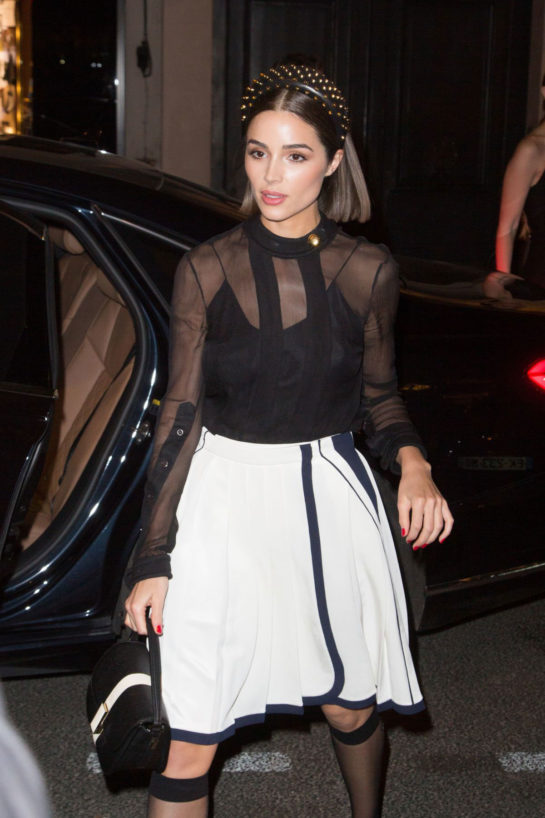 Olivia Culpo Heading to Prada Party at Paris Fashion Week