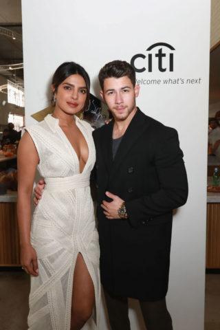 Priyanka Chopra and Nick Jonas at Sir Lucian Grainge's Artist Showcase in Los Angeles