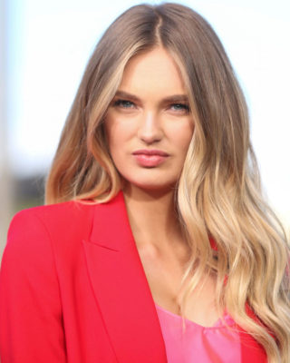 Romee Strijd at 'Extra' at Universal Studios Hollywood