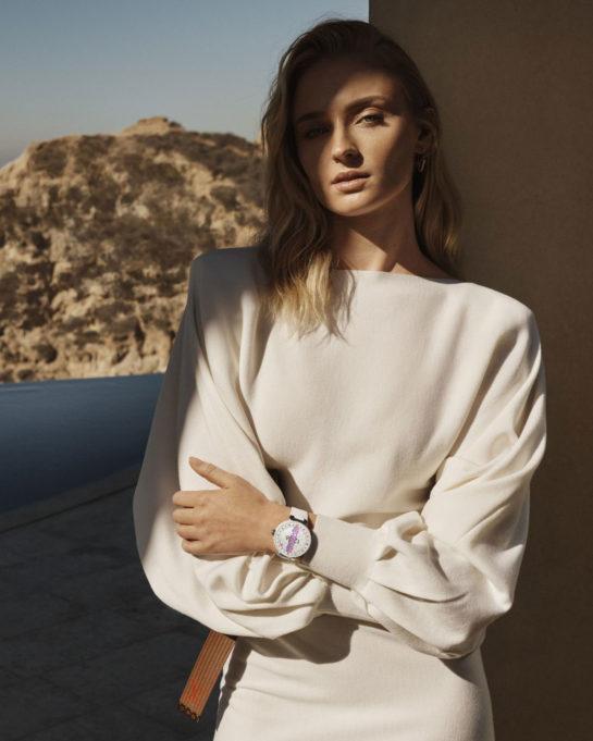 Sophie Turner for Louis Vuitton Tambour Horizon Campaign