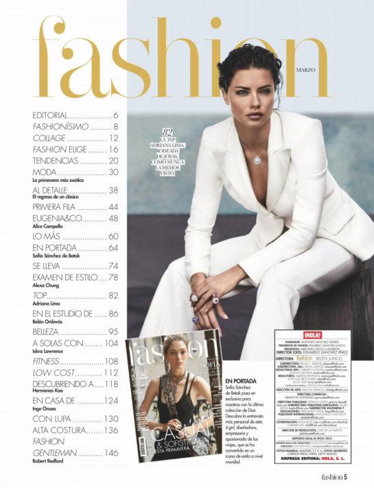 Adriana Lima in HOLA! Fashion Magazine March 2019 Issue