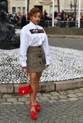 Amandla Stenberg at Miu Miu Show at Paris Fashion Week