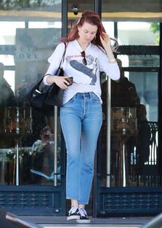 Behati Prinsloo Shopping in Barneys New York in Beverly Hills
