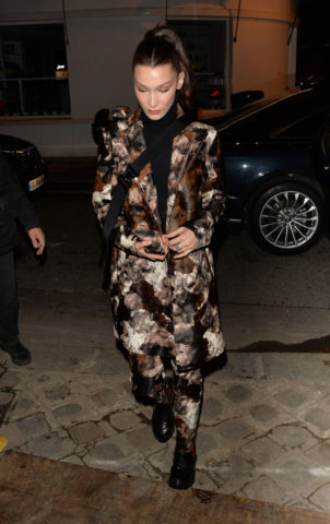 Bella Hadid Night Out in Paris