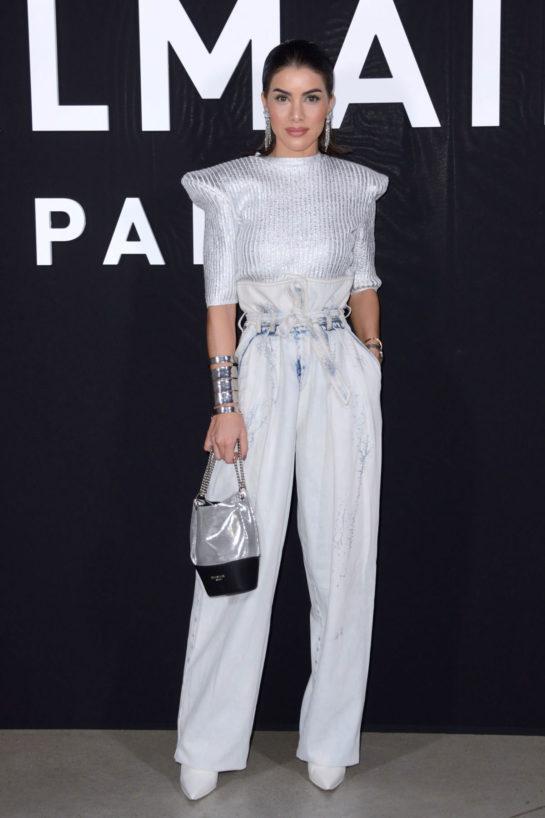 Camila Coelho at Balmain Fashion Show in Paris