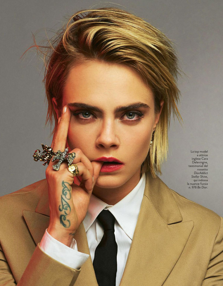 Cara Delevingne in Grazia Magazine, Italy March 2019