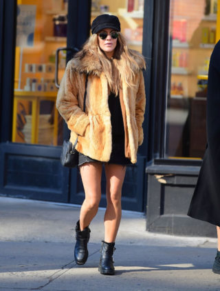 Caroline Flack Out and About in New York