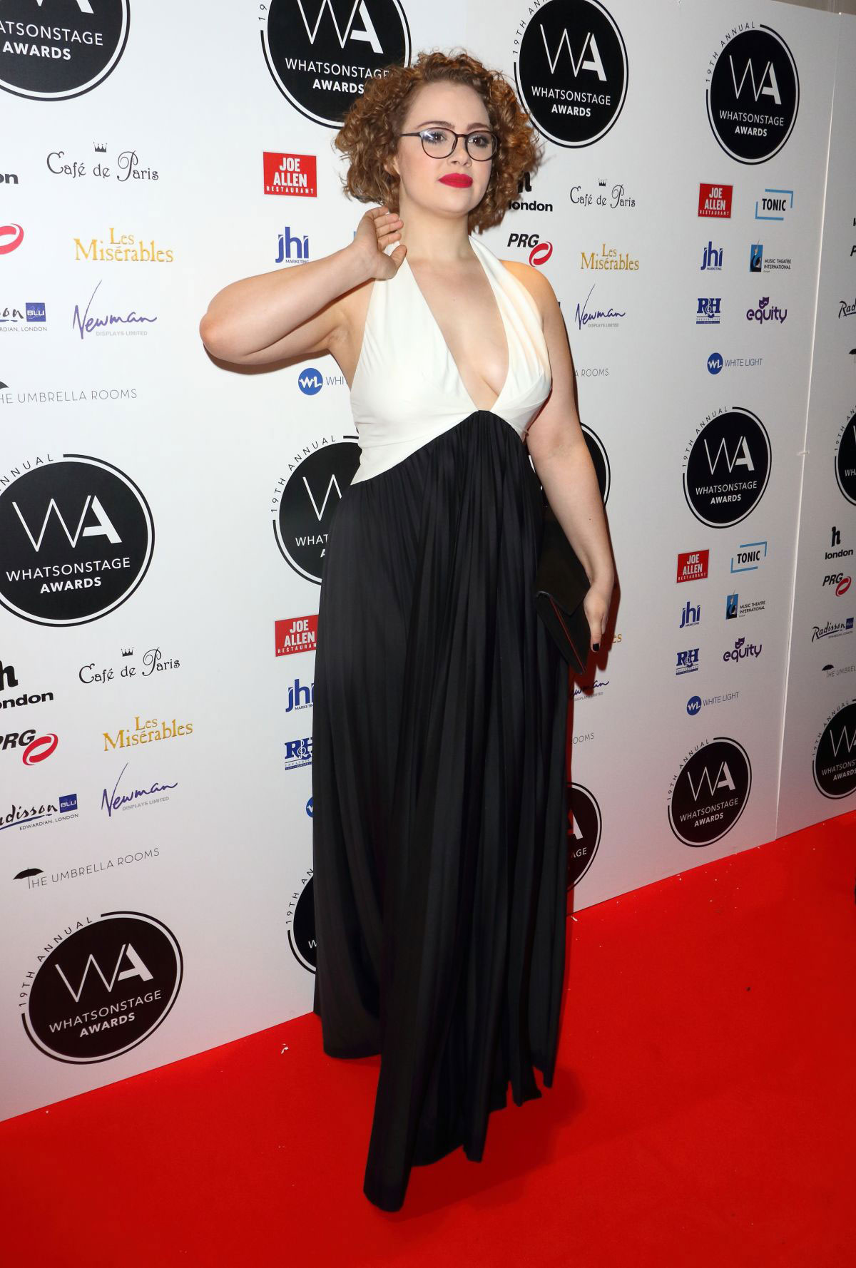 Hannah Waddingham at the Whatsonstage Awards 2019 at the