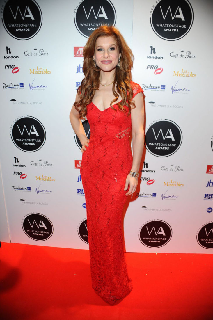 Cassidy Janson at Whatsonstage Awards 2019 in London