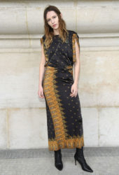Christa There at Paco Rabanne show at Paris Fashion Week