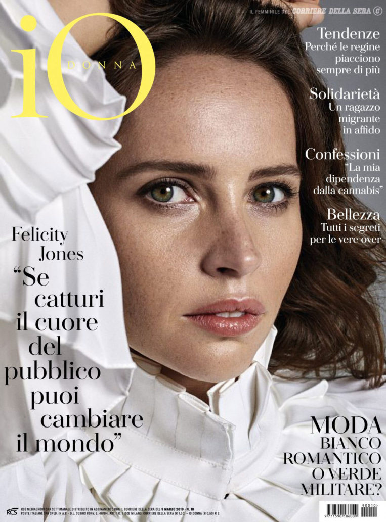 Felicity Jones in iO Donna Del Corriere Della Sera, March 2019