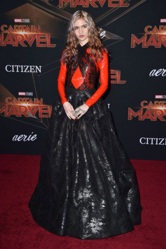 Grimes at 'Captain Marvel' Premiere in Hollywood