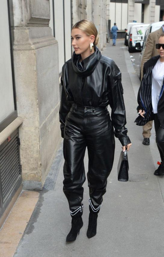 Hailey Bieber Arriving to Louis Vuitton Fitting in Paris