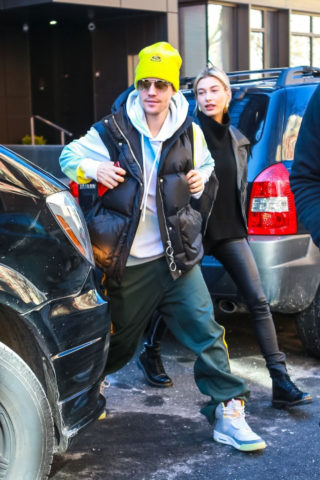Hailey and Justin Bieber Out in New York
