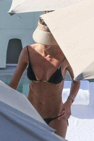 Izabel Goulart in Bikini at a Pool in Rio De Janeiro