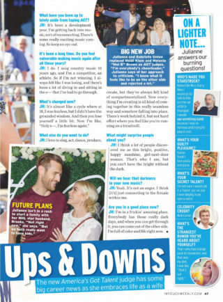 Julianne Hough in Touch Weekly Magazine April 2019
