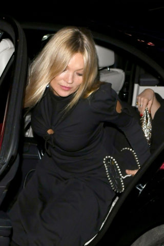 Kate Mos Arrives at Annabel's in London