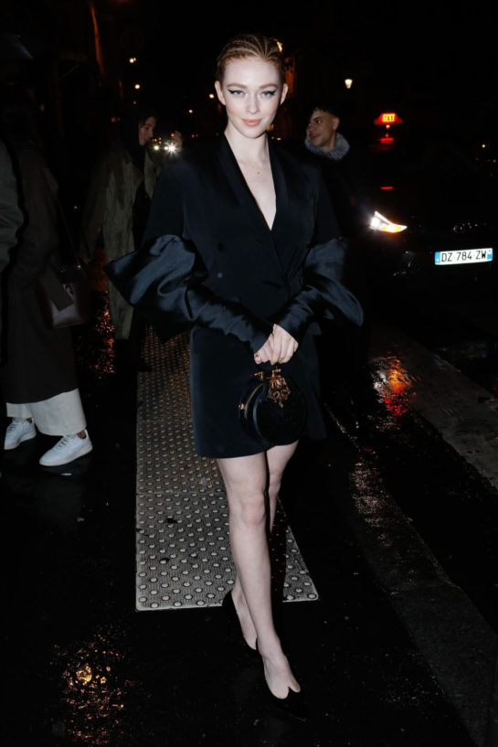 Larsen Thompson Arriving at the Prada Party in Paris