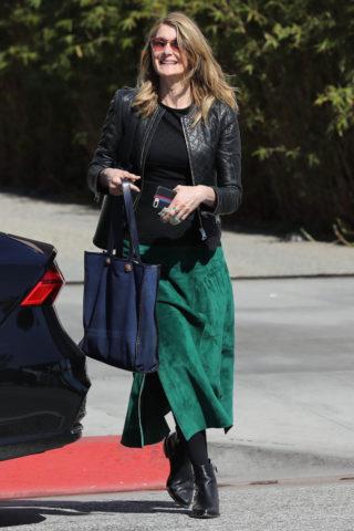 Laura Dern leaves The Ivy in Santa Monica