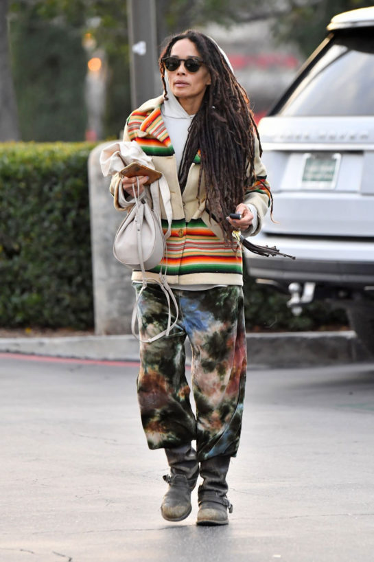 Lisa Bonet wears a very eclectic outfit as she heads out shopping in Calabasas