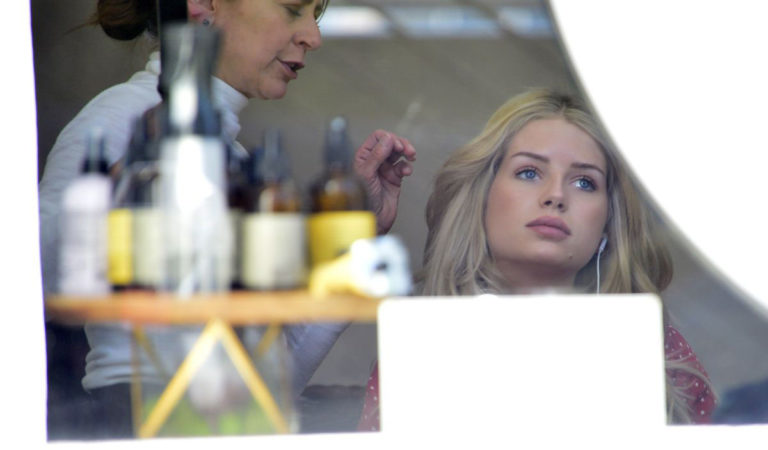 Celebrity Hair – Lottie Moss at a Hair Salon in West Hollywood