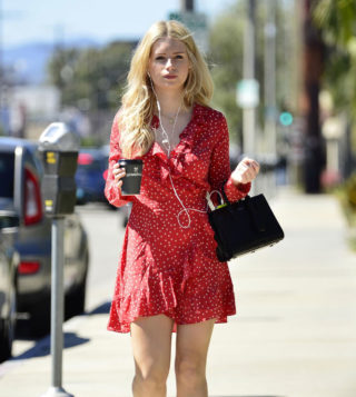 Lottie Moss at a Hair Salon in West Hollywood