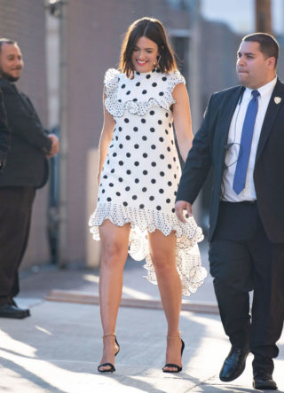 Mandy Moore Arrives at Jimmy Kimmel Live! in Hollywood