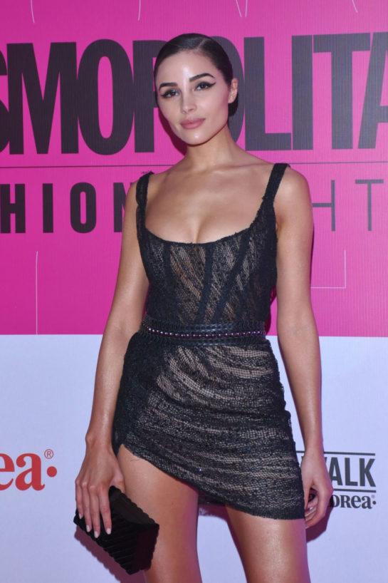 Olivia Culpo at Cosmopolitan Fashion Night Red Carpet in Mexico City